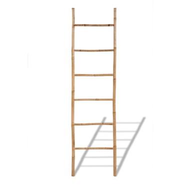 Μπαμπού Διακοσμητική Σκάλα για Πετσέτες με 6 Σκαλοπάτια